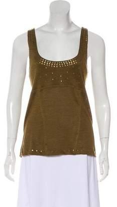 Donna Karan Embellished Sleeveless Top