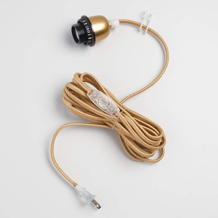 Cost Plus World Market Gold Electrical Cord Swag Kit