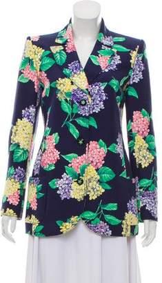 Ungaro Structured Floral Print Blazer