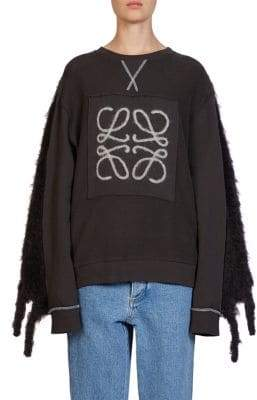 Loewe Fringe Mohair Sweatshirt