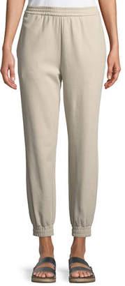 Joan Vass Stretch Interlock Jogger Pants