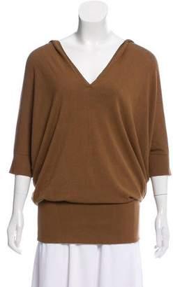 Donna Karan Hooded Dolman Sleeve Sweater