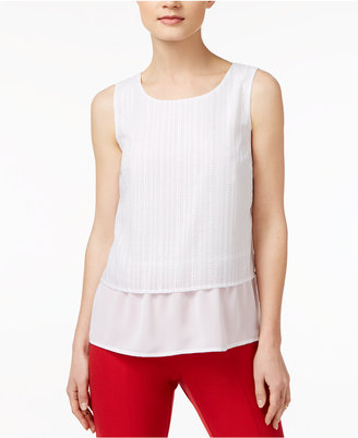 Maison Jules Textured Contrast Top, Only at Macy's $59.50 thestylecure.com