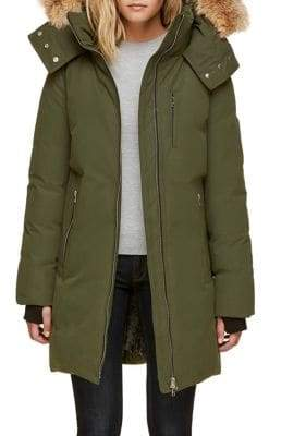 Soia & Kyo Zoelane Down Jacket with Coyote Fur Trim