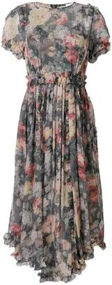 Zimmermann washed floral print asymmetric hem dress