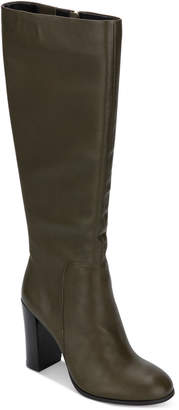 Kenneth Cole New York Women Justin Block-Heel Tall Boots Women Shoes