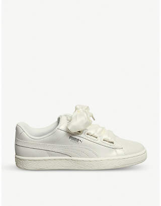 Puma Basket Heart leather trainers