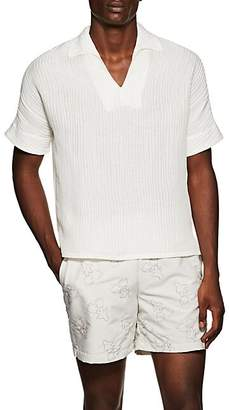 HECHO Men's Textured-Ribbed Silk-Linen Shirt - Ivorybone
