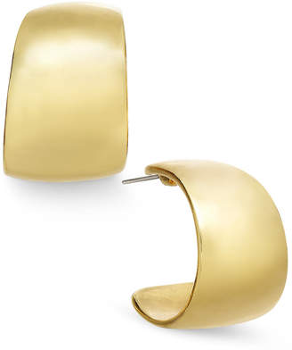 Charter Club Gold-Tone Small Wide Hoop Earrings $24.50 thestylecure.com