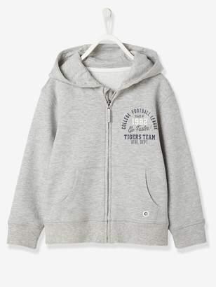 Vertbaudet Boys' Zip-Up Sweatshirt with Hood
