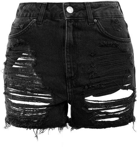 TopshopTopshop Moto extreme rip mom shorts