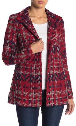 Desigual Textured Knit Front Button Coat