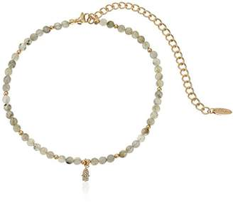 Ettika Brace Yourself Choker in Labradorite and Gold with Hamsa Choker Necklace