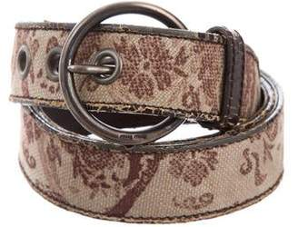 Miu Miu Distressed Canvas Belt