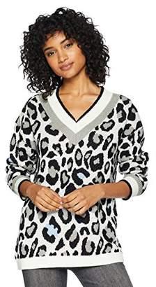 Cable Stitch Women's Animal Print Jacquard Sweater