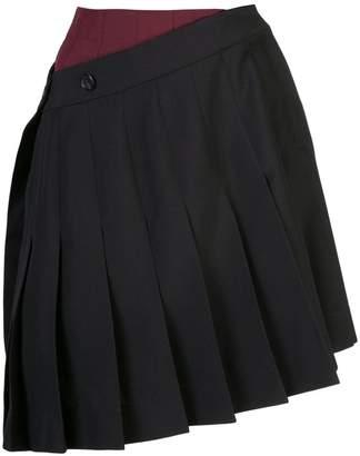 Calvin Klein double pleated mini skirt