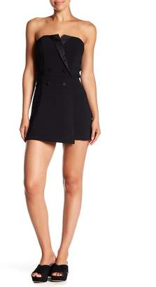 Do & Be Do + Be Tuxedo Styled Strapless Romper