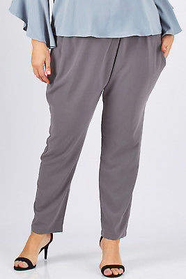 NEW bird by design Womens Pants The Cross Front Dress Pant Storm