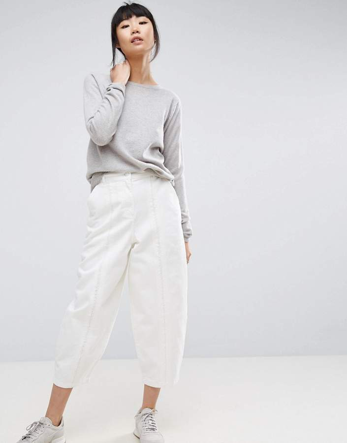 Asos ASOS White ASOS WHITE Fray Seam Detail Jean In White