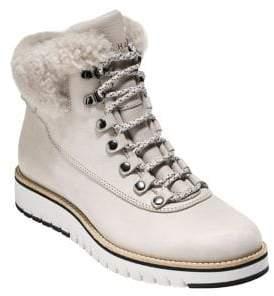 Cole Haan Grand Explorer Fleece-Trim Leather Winter Boots
