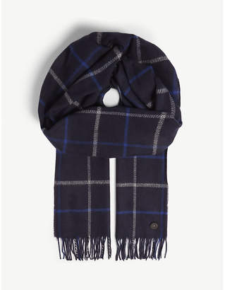 Ted Baker Halwil window check scarf