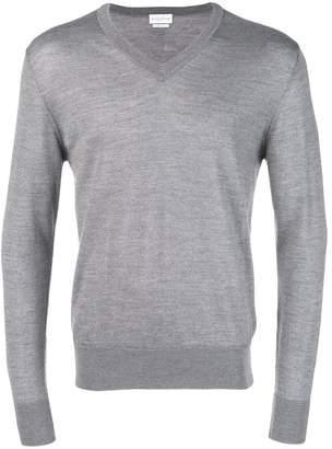 Ballantyne v-neck knitted jumper