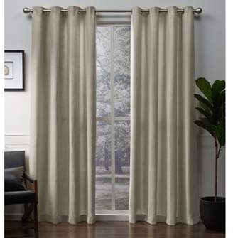 Exculsive Home Exclusive Home Winfield Heavyweight Metallic Sheen Treatment Basketweave Window Curtain Panel Pair with Grommet Top