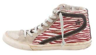 Golden Goose GGDB Slide Special Edition Striped Sneakers
