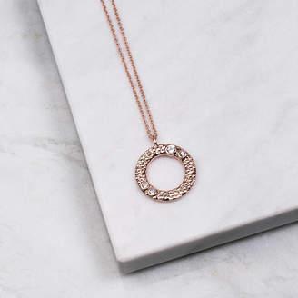 Wanderlust Emily Mortimer Jewellery Rose Sky Blue Topaz Necklace