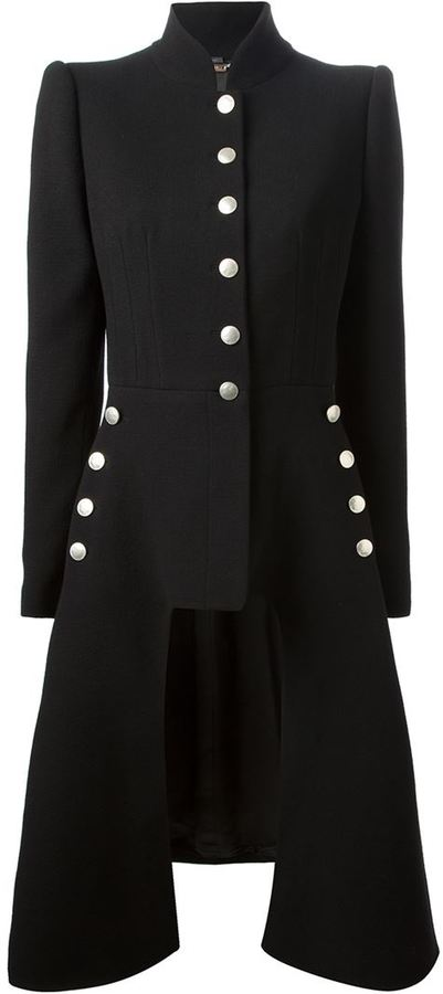 Alexander McQueen military style coat