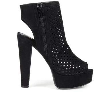 Fahrenheit Lindsay Peep-toe Women's Perforated High Heel Bootie