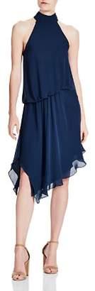 Haute Hippie Katherine Asymmetric Ruffled Silk Dress