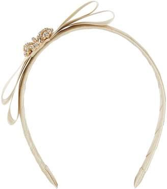 David Charles Satin Embellished Bow Headband