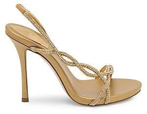 Rene Caovilla Women's Treccia Embellished Slingback Stiletto Sandals