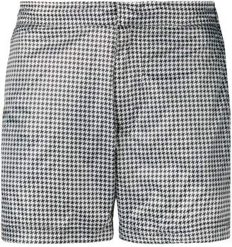 Islang dogtooth slim-fit swim shorts