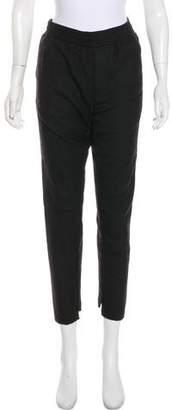 Stampd Wool Mid-Rise Straight-Leg Pants