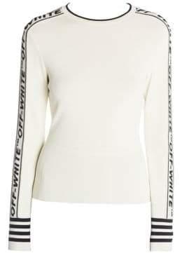 Off-White Tennis Knit Crewneck Sweater