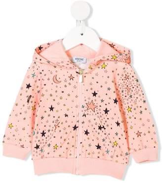 Moschino Kids galaxy print hoodie