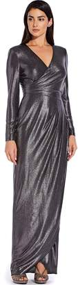 Adrianna Papell Metallic Jersey Gown