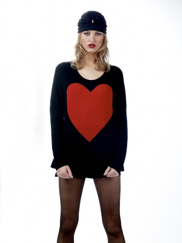 Torn by Ronny Kobo Jovia Heart Sweater