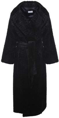 Alberto Biani Faux-astrakan Belted Coat