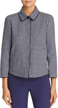 Armani Collezioni Check-Print Virgin Wool Jacket