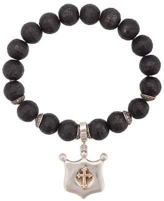 Loree Rodkin cross shield bracelet