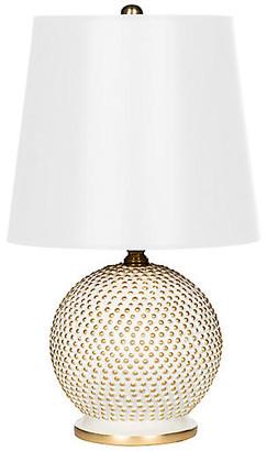 One Kings Lane Bradburn Home For Mini Ball Table Lamp - White/Gold