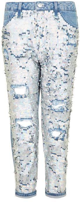 TopshopTopshop Moto shimmer sequin hayden jeans
