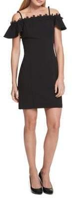 Kensie Off-the-Shoulder Lace-Trim Mini Dress