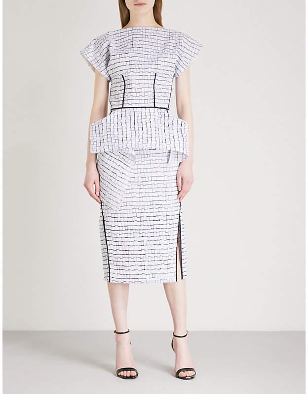 MATICEVSKI Precedent embroidered silk dress