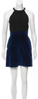 Timo Weiland Velvet-Accented Mini Dress w/ Tags