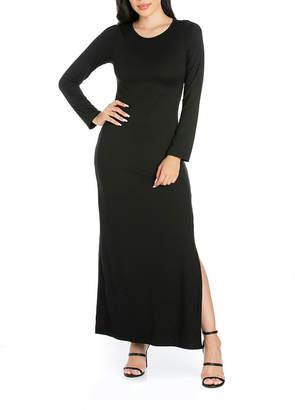 24/7 Comfort Apparel Long Sleeve Maxi Dress