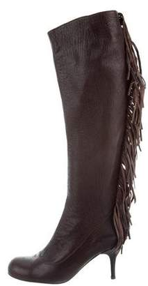 Lanvin Fringe-Trimmed Knee-High Boots